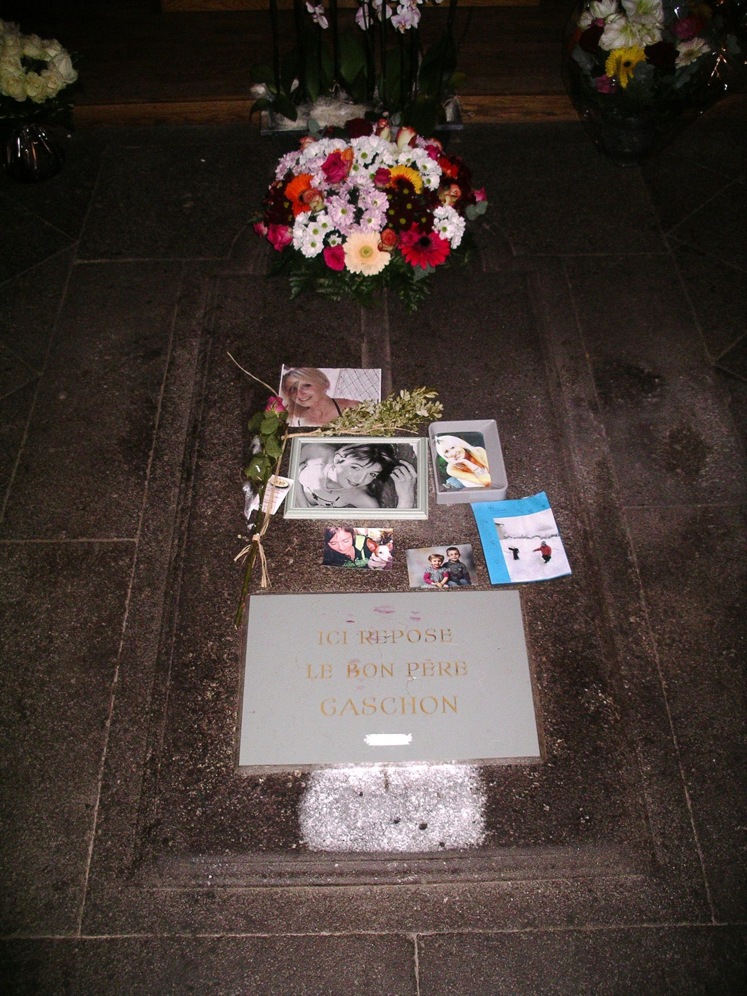 Tombe du P. Gaschon