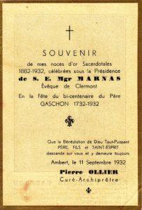 Image-souvenir de 1932.
